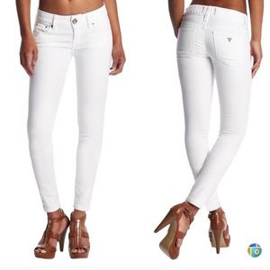 Brand new Guess white skinny jeans